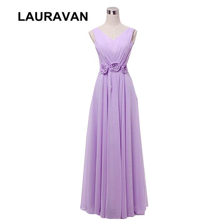 Longue grande taille corset col en v lavande robe de mariée dames robes de soirée 2019 robes de demoiselle d'honneur robes élégantes pour les femmes