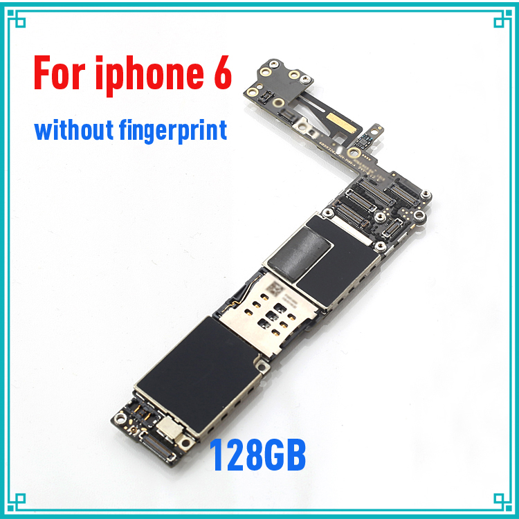 100% Good Working,128gb Original Unlocked for iphone 6 Motherboard without Touch ID Function,Free Shipping