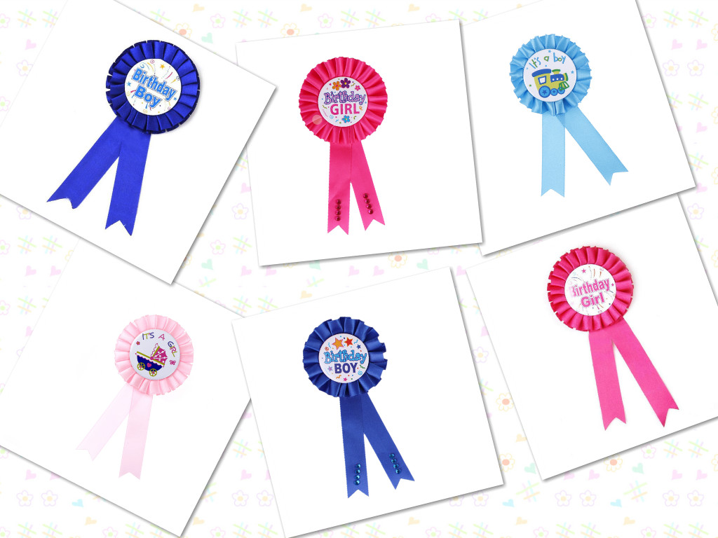 US $0 97 17% OFF 2018 New 1 PC Birthday Girl Boy Award Ribbon Rosette Badge  Pin Children's Party Decor Supply Favors-in Party DIY Decorations from