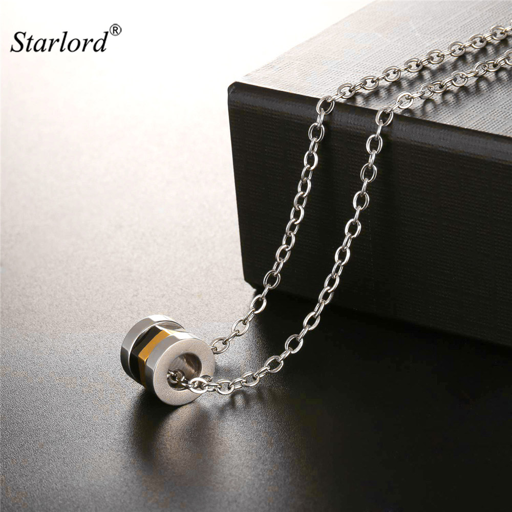 Starlord Multi-layer Nuts Pendant Necklace Unique/Special Design Stainless Steel Circle Pendant Jewelry For Men Gift 2017 GP2537