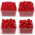 accessories Beads & Jewelry Making 6mm-28mm straight holes red round imitation plastic pearl Pearl Beads For DIY Jewelry A020