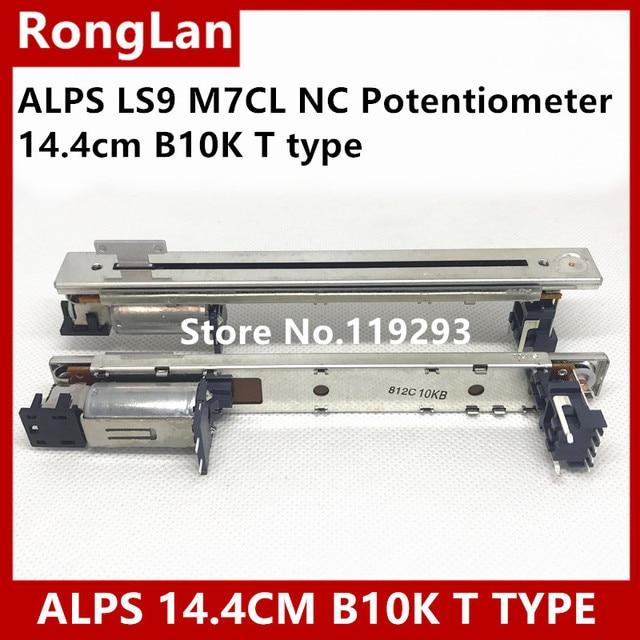 [BELLA]New Japan ALPS faders Original LS9 M7CL NC Potentiometer 14.4cm B10K T type handle electric mixer fader  5PCS/LOT