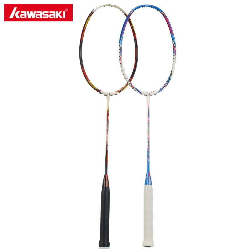 100% Original Kawasaki Carbon Badminton Rackets Ball Control Type Racquet For Primary Players Single Racket Explore X160