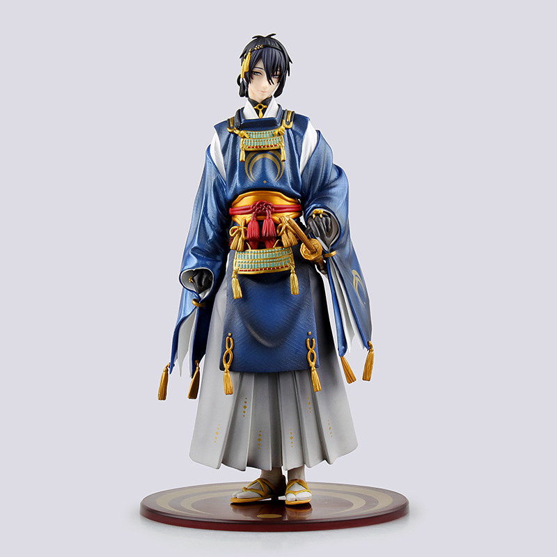 Hot-selling 1pcs 23CM pvc Japanese anime figure Touken Ranbu Online Mikazuki Munechika action figure collectible mode brinquedos 39mm 16 smd white dome festoon led car bulb lamp auto c5w led car bulbs interior lights car light source parking 12v 39mm d030