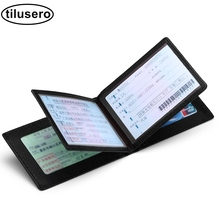 Driver License Holder Pu Leather on Cover for Car Driving Documents Business ID Pass Certificate Folder Wallet F047 jinbaolai driver license holder leather cover for car driving documents business card holder id card holder