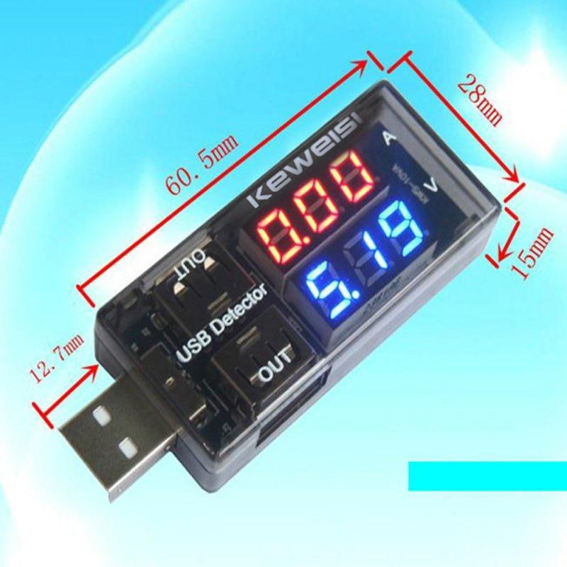 Dual USB Current Voltage Charger Detector battery Tester Voltmeter Ammeter Voltage Meters dc 4 30v digital display usb charger voltage multimeter battery test doctor mobile power detector current meters