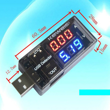 цена на Dual USB Current Voltage Charger Detector battery Tester Voltmeter Ammeter Voltage Meters