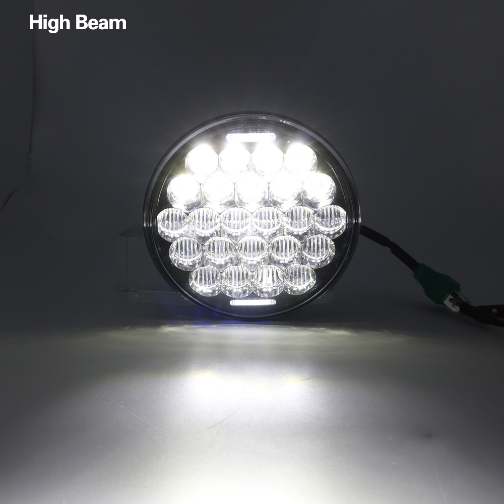 5 3/4 Motorcycle Projector LED Headlight 5.75 inch Hi/Lo Beam 5D Lens White DRL For Harley Sportsters, Dynas, Indian Scout 5 3/4 Motorcycle Projector LED Headlight 5.75 inch Hi/Lo Beam 5D Lens White DRL For Harley Sportsters, Dynas, Indian Scout