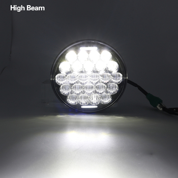 """5 3/4"""" Motorcycle Projector LED Headlight 5.75 inch Hi/Lo Beam 5D Lens White DRL For motor Sportsters, Dynas, Indian Scout"""