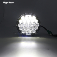 5 3/4 Motorcycle Projector LED Headlight 5.75 inch Hi/Lo Beam 5D Lens White DRL For Harley Sportsters, Dynas, Indian Scout