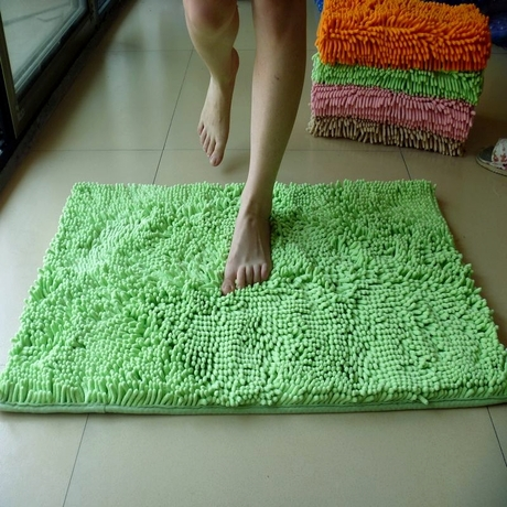 50*80cm floor bath mat slip-resistant set microfiber chenille bath mats Free Shipping - Microfiber Chenille Bath Mat Promotion-Shop For Promotional