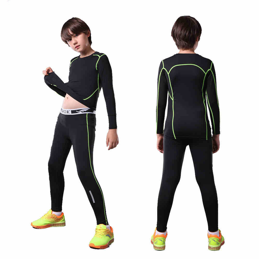 Kids Child Compression Base Layer Running Pants Shirts Survetement Football Training Pants Sports Soccer Skinny Tights Leggings