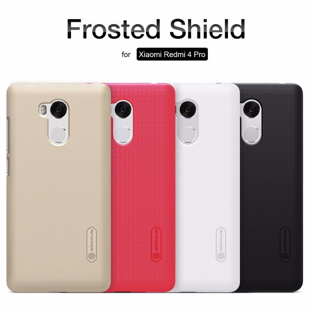 for Xiaomi Redmi 4 Pro Nillkin Super Frosted Shield Hard Back PC Cover Case for Redmi 4 Pro Nilkin Phone Case + Screen Protector