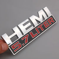 Auto Car Chrome HEMI Decals 5 7 Liter Badge Emblem Sticker