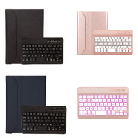 Colors Backlit Wireless Bluetooth Aluminum Alloy Keyboard Removable With Case Cover For IPad Mini 1 2