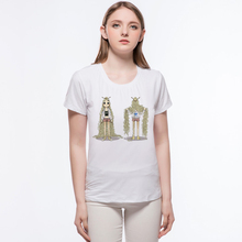 Women T Shirt New Naughty Miss Noodles Design Casual Stripe Tee Girl Tops Peacock Sequined Sequins T-shirt L10-a4