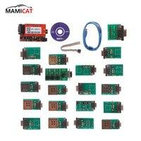 Новый полный чип с 20 адаптеры упа USB V1.3 программист UPA USB V1.3 программное обеспечение ECU чип инструмент настройки полный набор 20 фишек NEC Функци