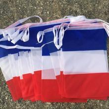 Французские флаги с 30 шт. Вымпел веревка баннер баннеры праздничные Вечерние