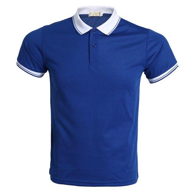 Nueva camisa Polo azul hombre Polo Homme marca manga corta hombres Polo  2016 verano estilo Slim 7f08ac7cb53ef