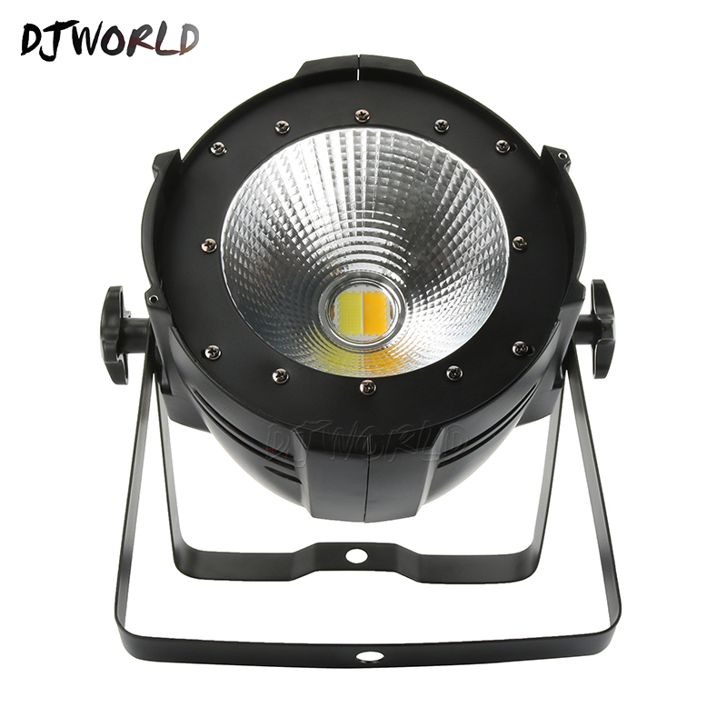 200W C0B LED Par Cool and Warm White Lighting Lamp Fixed Stage Effect For Stage Effect Light DJ Disco Lighting Party Light led 200w cob led par aluminum alloy with barn doors cool or warm white 2in1 lighting lamp dmx for stage effect dj disco lighting