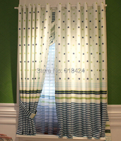 Finish Products Curtains For Kids Size 1 5 2 0m Blue Star Stripe Decoration Window Curtain