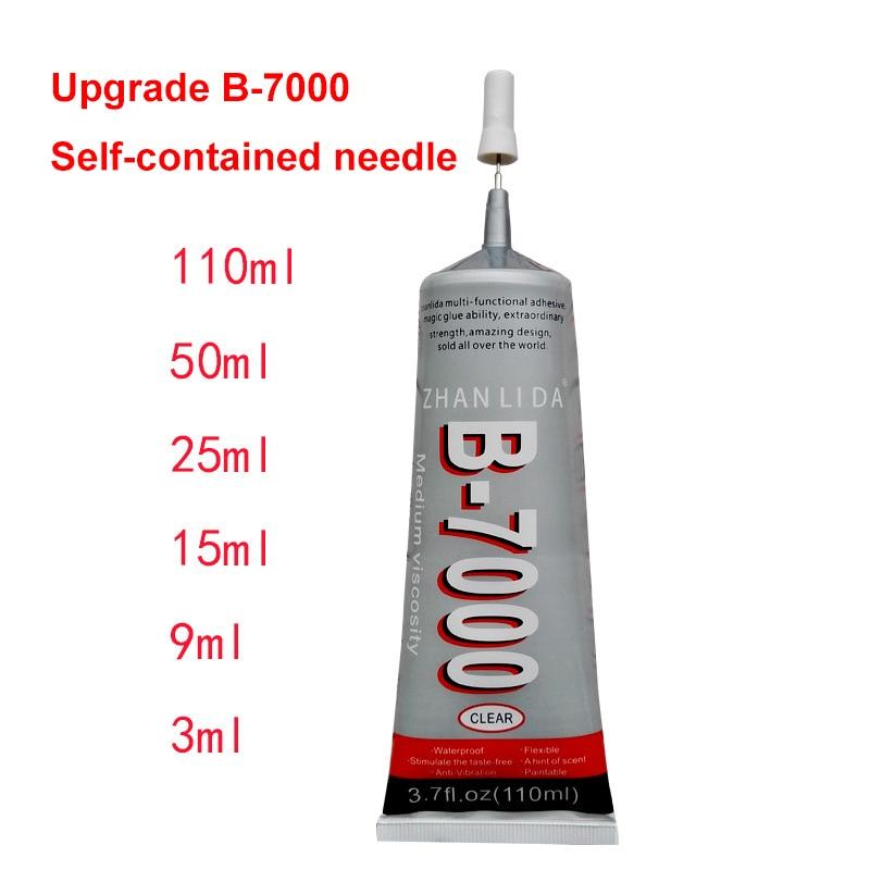 B-7000 Glue 3ml 15ml 25ml Multi Purpose Glue 50ml 110ml Adhesive Epoxy Resin Diy Crafts Glass Touch Screen PVC Super Glue B7000