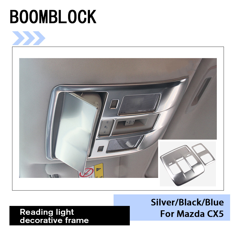 Auto Front And Rear Reading Light Decorative Frame <font><b>Interior</b></font> Sticker For <font><b>Mazda</b></font> <font><b>CX</b></font>-<font><b>5</b></font> CX5 <font><b>CX</b></font> <font><b>5</b></font> 2017 <font><b>2018</b></font> KF Car Styling <font><b>Accessories</b></font> image