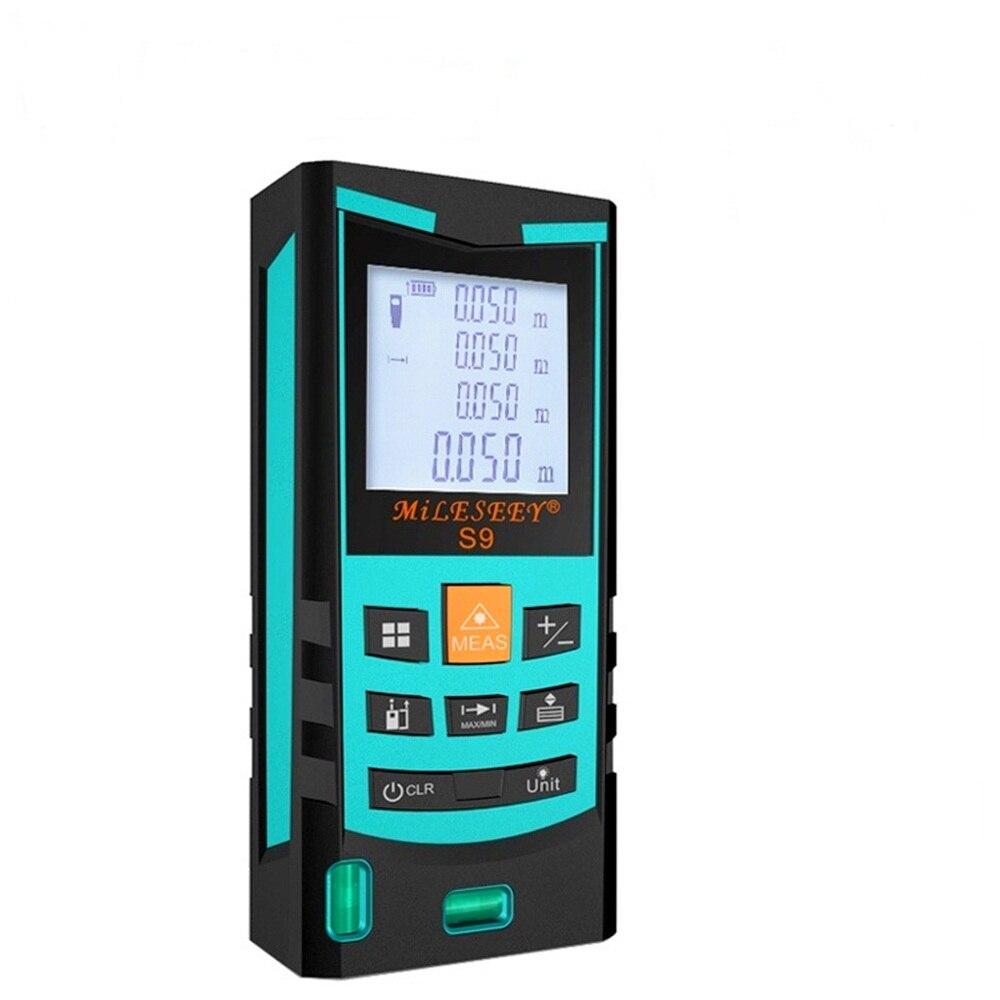 S9 Laser Mètre de Distance 60 M 80 M 100 M Laser Télémètre Laser Range Finder Numérique Bande infrarouge règle Mesure région/volume Outil