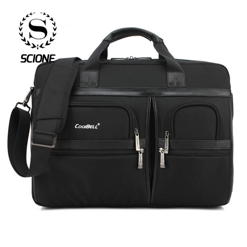 Scione Briefcases Handbag Tote Laptop Crossbody-Bags Shoulder Business Travel Office
