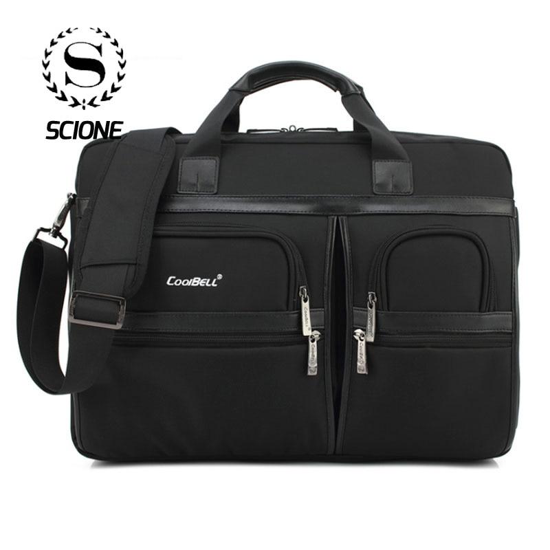 Scione Business porte-documents pour ordinateur portable pour hommes femmes imperméable antichoc grande épaule bandoulière sacs voyage bureau fourre-tout sac à main