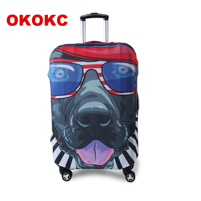 OKOKC Character Hip-hop Dog Elastic Luggage Protective Cover For 19''-32'' Trolley Suitcase, Travel Accessories