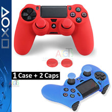 1 Set Silicone Gel Rubber for PS4 Skin Case Cover for Sony PS4 Controller Grip Cover Sticker Grip Thumbstick JoyStick Caps Case(China)