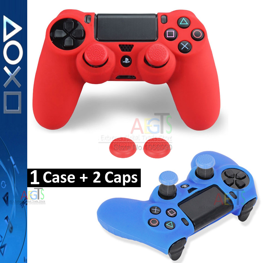 1 Set Silicone Gel Rubber Voor Ps4 Skin Case Cover Voor Sony Ps4 Controller Grip Cover Sticker Grip Thumbstick Joystick Caps Case Rubber Gel Rubber Setrubber Silicone Aliexpress