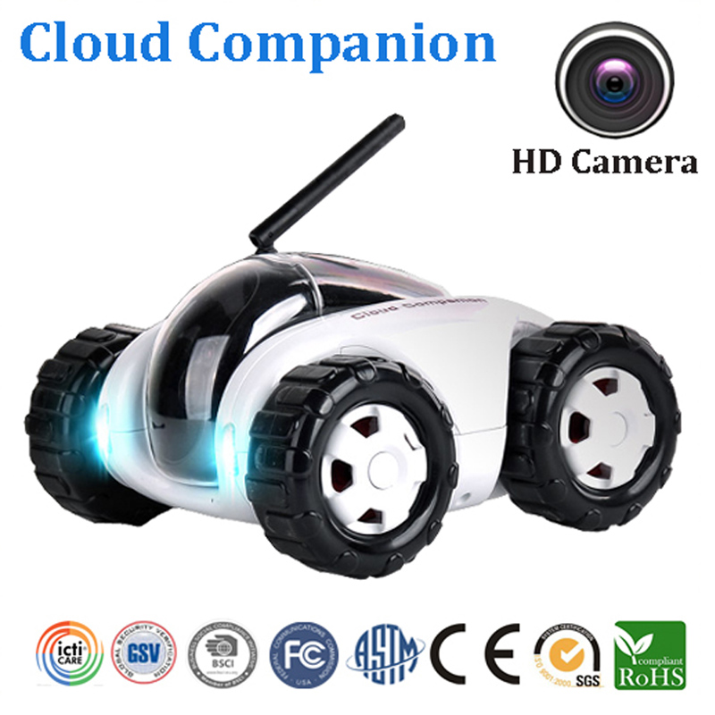 C-102 WiFi FPV RC Car Vehicle with Camera Remote Control Surveillance Real-time Video Cloud Companion A Removable IP Camera  wireless charger wifi remote control car with fpv camera infrared night vision camera video toy car tanks real time video call