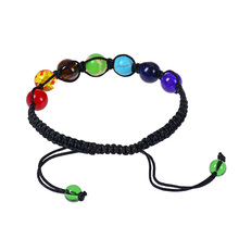 7 Chakra Bracelet Supernatural Lava Reiki Stones Beads Yoga Healing Balance Women Jewelry Fashion M16