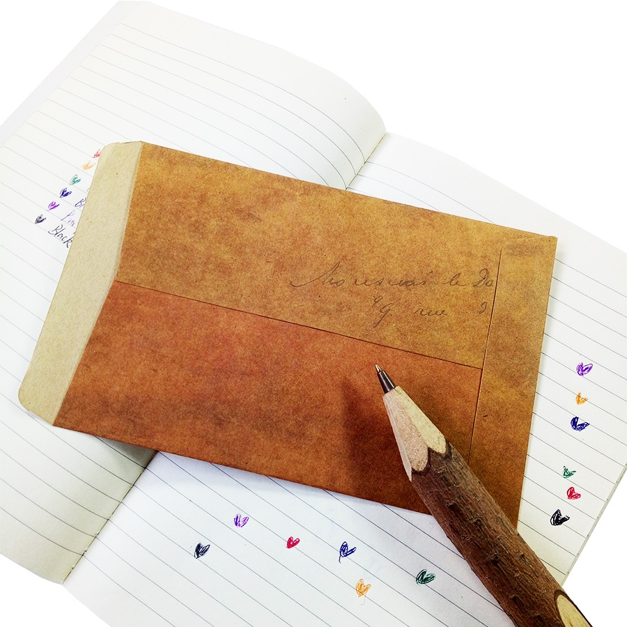 Купить с кэшбэком 100pcs/lot New vintage kraft paper stamp series envelopes antique kraft gift envelope 16*11cm wholesale