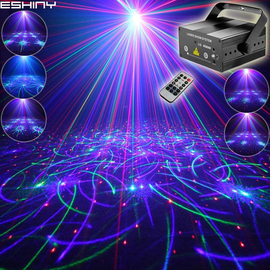 EHINY MINI RGB 2 объектива лазер 64 узора Проектор Клуб семья вечерние Бар Диско DJ праздник Рождество танцевальное освещение сценическое освещение N8T159