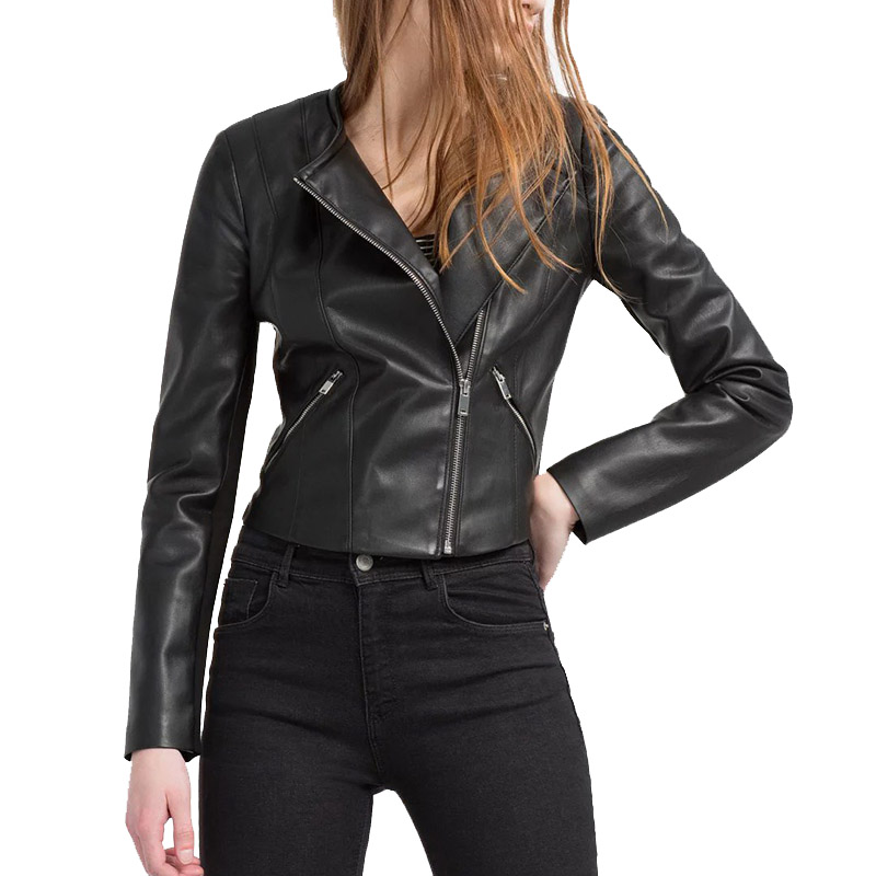Popular Cropped Leather Jacket-Buy Cheap Cropped Leather Jacket ...