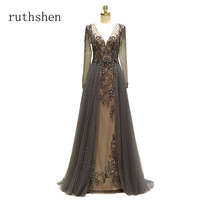 Ruthshen 2018 новый ручной бриллиантами прозрачные платья выпускного вечера пикантные открытой спиной официальная Вечеринка платье Иллюзия Vestido