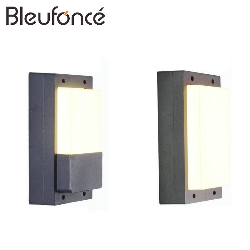 Outdoor Waterproof Wall Lamp Modern LED Wall Lamp Lighting Exterior Wall Sconce Porch Garden Lights AC85-265V 12W LED Light BL60 waterproof cube led wall light 10w led wall sconce lamp led porch lights outdoor sconces exterior gate balcony garden yard