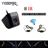Wireless Transmitter Receiver Bult in Car Intelligent Dynamic Trajectory Tracks Parktronic camera with 8 Infrared Night vision