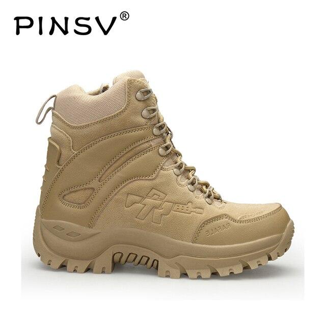 Wysokie buty na świeżym powietrzu mężczyźni zamszowe buty trekingowe wysokie góry górskie wspinaczka pustynne buty taktyczne odkryty wysokie buty