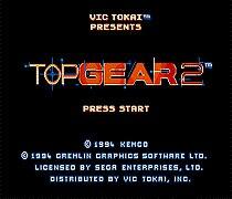 Top Gear 2 16 Bit Game Card For Sega Mega Drive & Sega Genesis