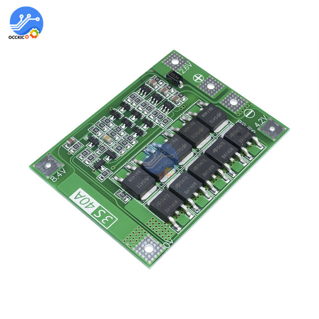 3S 40A BMS Lithium Battery Protection Board Enhanced Balance version 18650 Li-ion battery charger Circuit board 11.1V 12.6V 4