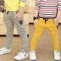 2016 del otoño del resorte ropa para niños niños pantalones sólidos pantalones de harén casual para niños niños ropa de bebé de algodón fino largo pantalones