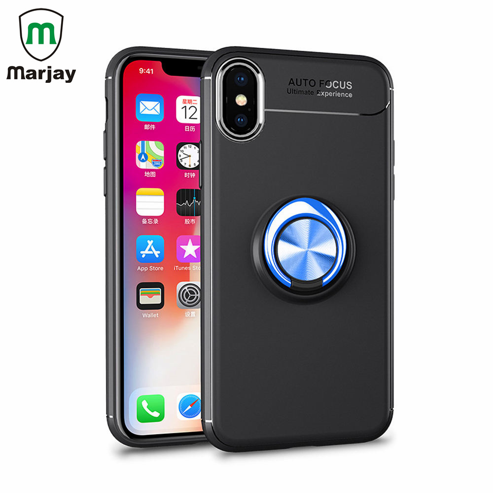 Magnetic Ring Bracket Phone Case For iPhone X 6 6s 7 8 Plus Easy Viewing Movies Chase Cover For Samsung S8 S9 Plus Note 8 Cases