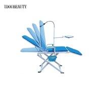 TDOUBEAUTY зубные Портативный стул накладные Холодный свет с плевательницы лоток стоматолог мобильные устройства Тип GU 109 светодиодный без подз