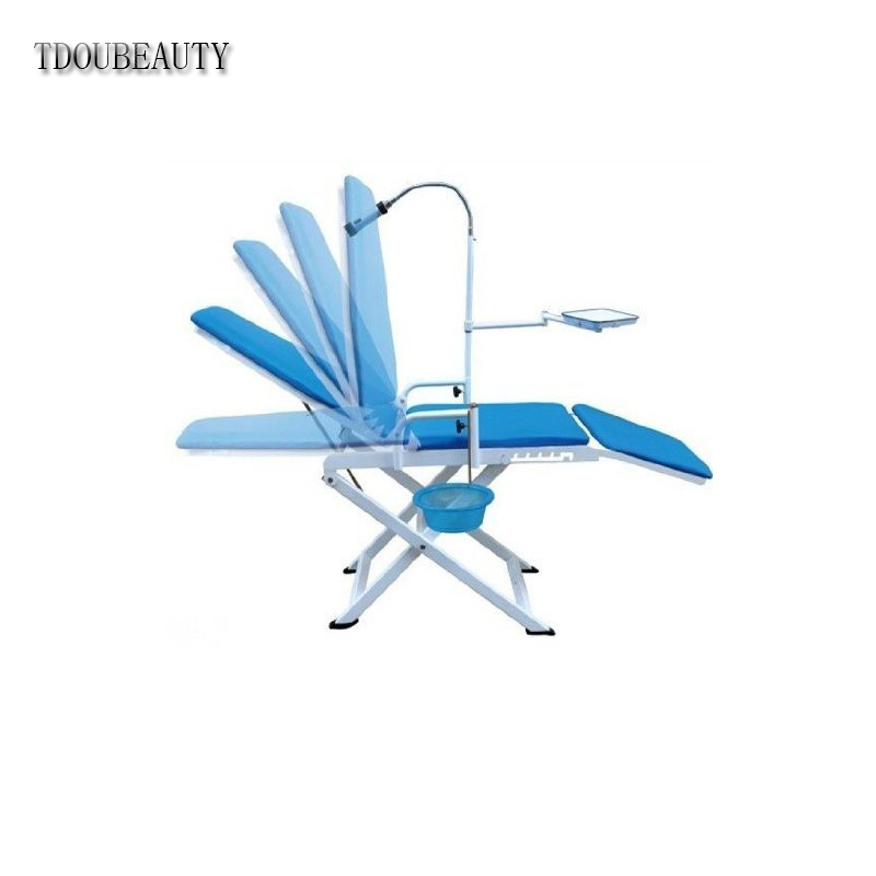 TDOUBEAUTY Dental Portable Chair Overhead Cold Light with Cuspidor Tray Dentist Mobile Unit Type GU-109 LED Without Recharging