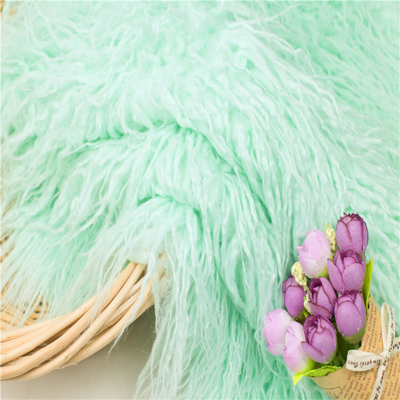 1M*1.6M	Newborn Photography Props Blankets,Soft Long Fur Plush Baby Blanket Basket Flokati Stuffer,Faux Fur Fotografia Backdrop