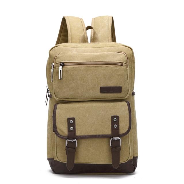 """Крест быка мужской холщовый рюкзак 14 """"ноутбук сумка мужская дорожная сумка рюкзаки мужские винтажные школьные рюкзаки Mochila BK8008"""